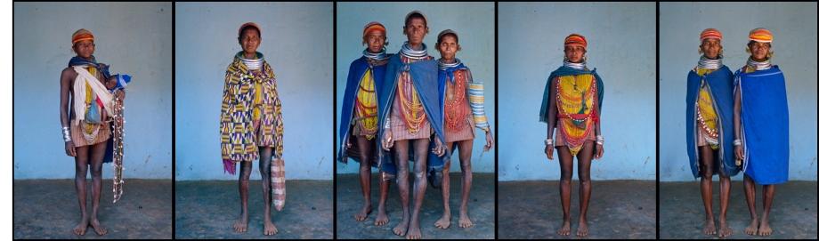 Bondo Women series - Odisha, India - photographed by David Katzenstein